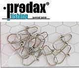 Predax Oval Egg Snap - 10 Snaps für Raubfischvorfächer, Einhänger für Kunstköder wie Wobbler,...