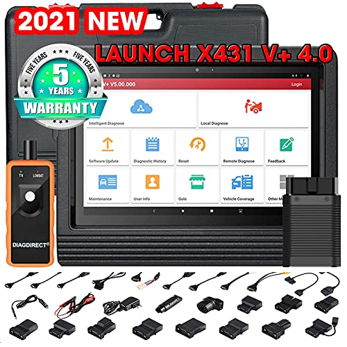 LAUNCH X431 V+ PRO 4.0 2021 Upgraded of PROS V4.0 Bi-Directional Scan Tool 31+ Reset Services Diagnostic Scanner, Key Programming Scan Tool,AutoAuth FCA SGW,ECU Coding, Free Update,TPMS Tool Gift