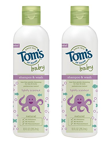 Tom's of Maine Natural Baby Shampoo and Wash, Lightly Scented, 10 Ounce, 2 Count