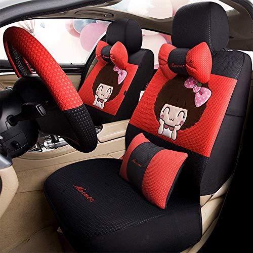 Fyj-carcare Autositzbezüge Universal Carseat Protectors for vorne und hinten |Geteilter Rücken + Airbag kompatibel |Autozubehör Interieur (Farbe : Type 11)