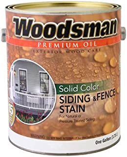 True Value Woodsman WSOVN-GAL Solid Color Siding and Fence Stain