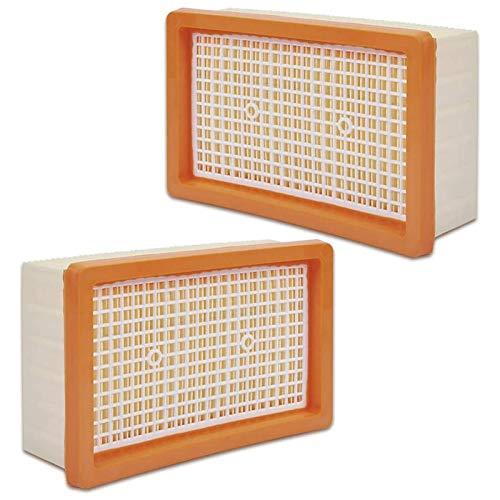 SODIAL Paquete de 2 Filtros Planos Plisados para Karcher WD4, WD5, WD6, MV4, MV5, MV6, Reemplazo de Filtro de Aspiradora en Seco y HúMedo