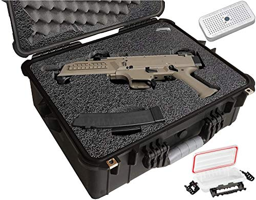 Case Club CZ Scorpion EVO 3 S1 Pistol & S2 Pre-Cut Waterproof Pistol Case with Silica Gel to Help Prevent Gun Rust (Gen 2)
