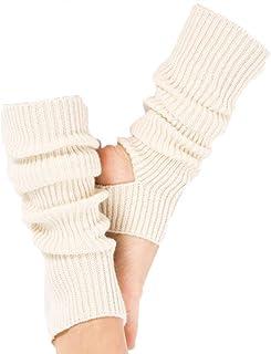 Febbya Mujeres Chicas Calcetines Largos de Yoga,Calcetines de Yoga de Punto Largos Calcetines Deportivos de Ganchillo para Yoga Baile Ejercicio Gimnasio Mantener el Calor Blanco