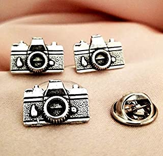 Camera lens cufflinks cuff links and tie tack lapel Pin set-Photographer Photography men's gift