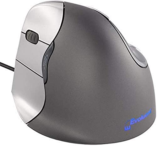 2021 Evoluent outlet online sale VM4L VerticalMouse 4 Left Hand Ergonomic Mouse with Wired USB Connection (Regular Size.) The Original VerticalMouse Brand outlet sale Since 2002 outlet sale