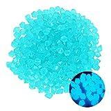 IPOUJ Rocas de Resplandor, 10 unids Color Mezclado Resplandor en Las Piedras oscuras Piedras Luminosas para el Tanque de Peces Aquarium Interior -Outdoor Patio Decoración Blue