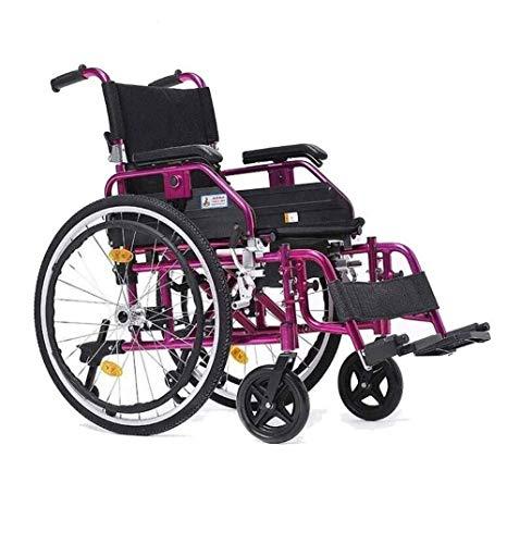 Ergonomische klappbare Fußstütze für Rollstühle Ultraleichte manuelle Rollstuhlsitzbreite von 20 Zoll