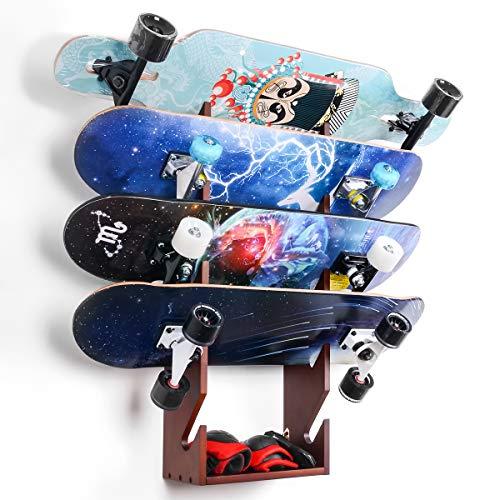 InchMall Skateboard Rack | Skateboard Aufbewahrung | Wandmontage Skateboard Organizer | Skateboard Werkzeugspeicher- Skateboard-Werkzeugkasten organisieren