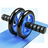 Lpfkkk Rodillo Rueda De Ejercicio Abdominal Core Strength Training Yoga Fitness Tool-Negro (Color : Black)
