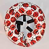 Puppy Bumpers Rainy Day (Water Resistant) Lady Bug 3 Made in USA Puppy Bumpers Stuffed Safety Fence Collar to Keep Your pet Safely on The Right Side of The Fence. (Up to 10')