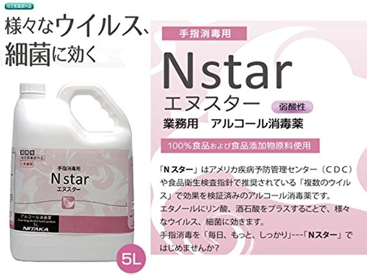 宣教師腐食する一手指消毒用 業務用アルコール消毒液 ニイタカ Nstar エヌスター 5LX4本