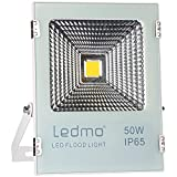 LEDMO 50W LED Flood Light Outdoor,Super Bright Waterproof IP65, 250W Equivalent 4000Lm 6500K Daylight White Floodlight for Garage, Garden, Lawn and Yard