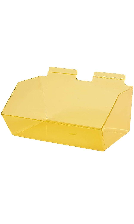 Clear Yellow Plastic Dump Bin - 12
