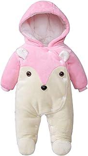 OhhGo الوليد الطفل الكرتون الحيوان الشتاء بذلة دافئة مقنعين رومبير ملابس أبلى للطفل 0-12 شهر