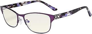 Eyekepper Computer Reading Glasses,Blue Light Filter,Stylish Crystal Readers Women,Purple +1.75