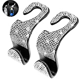 SEAMETAL Bling Car Seat Hanger Backseat,Bling Car Accessories for Women,Headrest Auto Seat Hook Back Seat