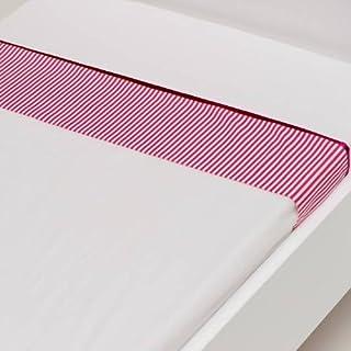 Briljant jenny drap housse bébé coton fuchsia streep) :  -75 x 100 cm