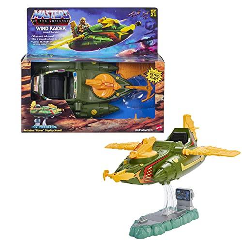 Masters of the Universe GYY34 - Origins Wind Raider-Fahrzeug mit Abschlepphaken, einziehbarer Schnur und Aufstellvorrichtung, ab 6 Jahren