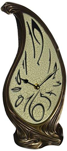 Design Toscano WU08388 Orologio Scultoreo Teardrop, Oro, 10x16.5x37 cm