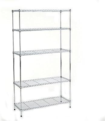 Shelf Support de Stockage à Six Couches, Support de Sol en métal, Longueur 13,78 * Largeur 9,84 * Hauteur 59,06 Pouces