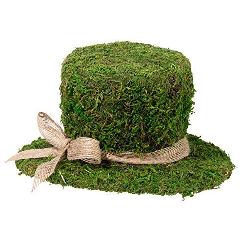 "Lillian Rose 8.5"" Moss Top Hat Decoration"