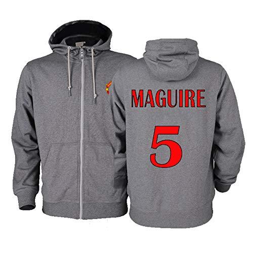 WEF Otoño/Invierno con Capucha, suéter Caliente, Harry Maguire # 5 Series Gran Bolsillo con Capucha, Unisex S-XXXL (Color : A, Size : XX-Large)