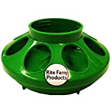 Rite Farm Products Green Feeder Base for Poly/Glass Quart JAR Poultry Chicken