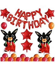 27PCS Bing Bunny Balloons Birthday Party Decorations, Happy Birthday Banner Foil Balloon for Kids Baby Shower Birthday Party Suppliers