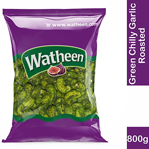 Watheen Special Green Chilly Garlic Roasted Cashew Nuts 800g