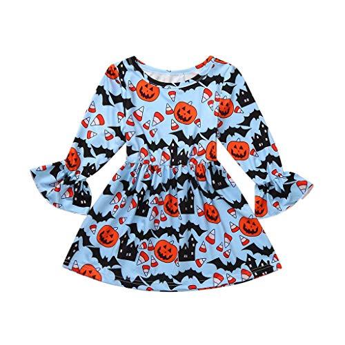 Sayla Babykleidung Winter Outfit Neugeborene Mädchen Jungen Lange Ärmel Prinzessin Kleid Halloween Party Witch Schläger Kürbis Kostüm Kleiden
