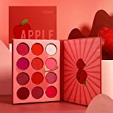 Red Eyeshadow Palettes Makeup Professional,Afflano Ultra Pigmented and Blending Bright Dark Hot True Red Eye Shade 12 Color,Velvet Matte Shimmer Texture Warm Fall Sunset Eye Shadow Pallet-Cruelty Free