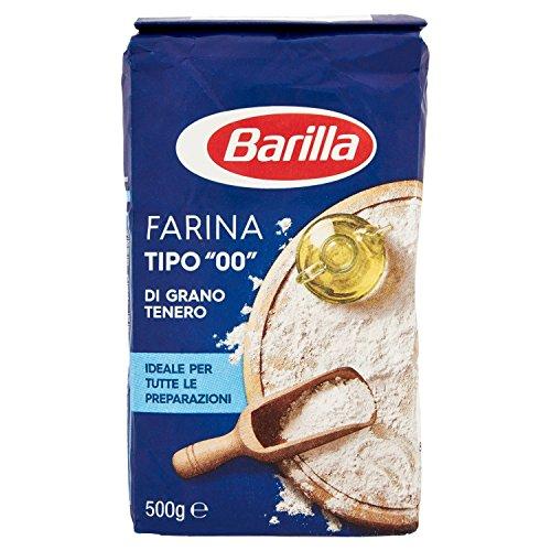 Barilla Farina di Grano Tenero 00 100% Italiano per tutte le Preparazioni, 500g