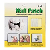5ピース壁修理パッチセット乾式壁修理生地自己接着壁天井パッチの天井の損傷を修正(6*6in.)