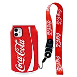 MME Character Case for iPhone XR Case Pepsi Sprite Funny 3D Cartoon Soft Silicone Rubber Case for Women Girls Teens(Red,XR)