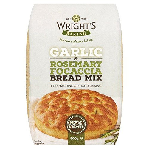 Wright's Garlic & Rosemary Focaccia Bread Mix - 500g (1.1lbs)
