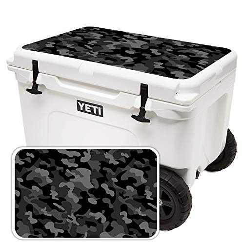 MightySkins (Cooler Not Included) Skin Compatible with Yeti Tundra Haul Cooler Lid - Black Camo | Protective, Durable, and Unique Vinyl Decal wrap Cover | Easy to Apply | Made in The USA