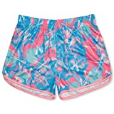 Girls Lacrosse Athletic Shorts | Island Flower Lax | Youth Small