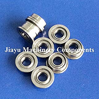Fevas 50 PCS SMF63ZZ Flanged Bearings 3x6x2.5 mm Stainless Steel Flange Ball Bearings DDLF-630ZZ