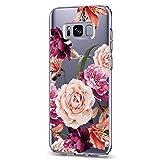 Cover per Samsung Galaxy S8 Plus, Samsung Galaxy S8, Trasparente, in Silicone TPU, Motivo Fiori e Fiori 9 Samsung Galaxy S8