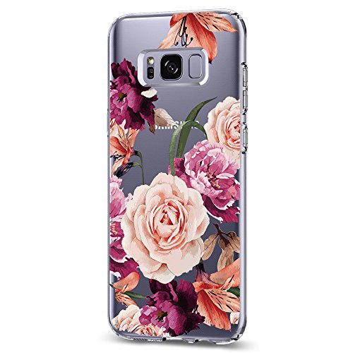 Riyeri Case Compatible with Galaxy S8 Hülle Clear Slim TPU Silikon Bumper Galaxy S8 Plus Hülle (S8, 17)