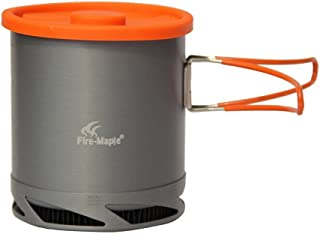 Fire-Maple Portable Anodized Aluminum 1L FMC-XK6 Heat Collecting Exchanger Pot Cup Outdoor Camping Picnic Cookware Drawstring Mesh Bag