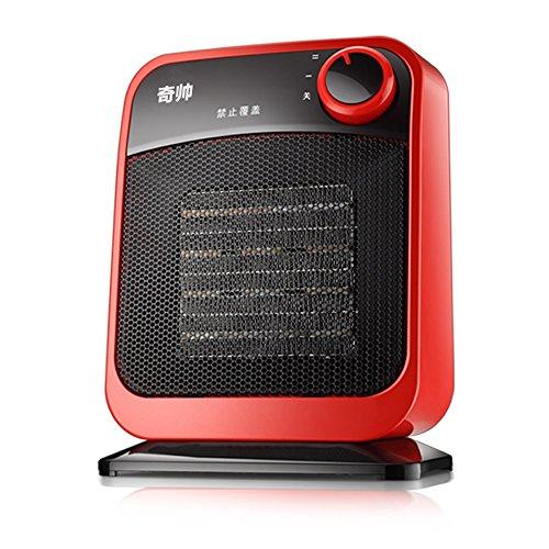 HAIZHEN Radiateur électrique Céramique électrique PTC Céramique chauffage 650W \ 1300W économie d'énergie domestique 17.5 * 10 * 22.5CM Économie d'énergie (Couleur : Rouge)