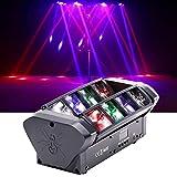 Moving Head Beam, DJ Lights, Disco Light, Party Light, Indoor DJ Equipment Strobe Light Led Spotlight 8 x 3W RGBW Sound Activated DMX-512 for DJ Stand, Disco, Bars, Clubs, Family Parties, Light Shows