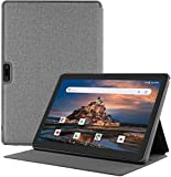 Android Phone Tablet 10 Inch + Protective Case, 3G Unlocked Phablet with Dual SIM Card Slots and Cameras, 1280X800 IPS Display,Quad-Core Processor, GMS Certified,WiFi, Bluetooth, GPS –Black