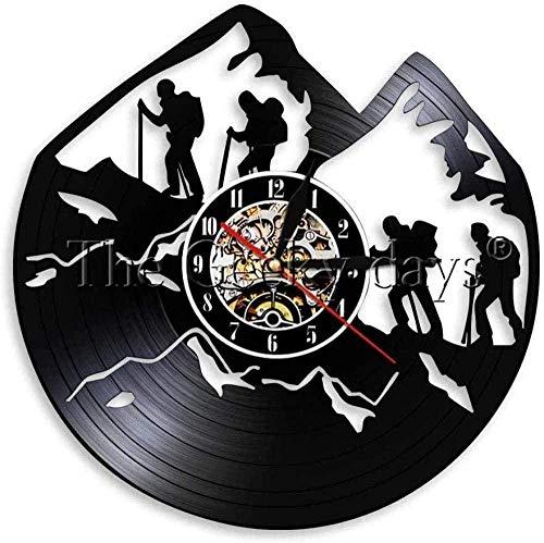 TJIAXU Senderismo Disco de Vinilo Reloj de Pared Cuerda de...