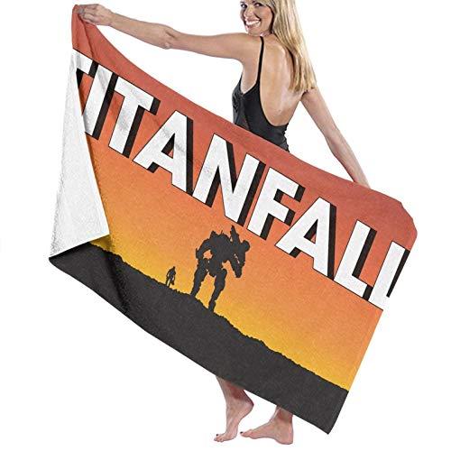 Juego titanfall Toallas de baño de secado rápido extra grandes para mujeres/hombres/niños playa/nadar/senderismo/camping toalla