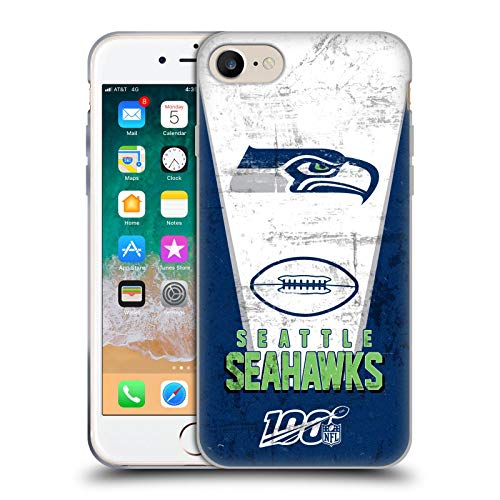 Head Case Designs Offizielle NFL Banner 100ste 2019/20 Seattle Seahawks Soft Gel Huelle kompatibel mit Apple iPhone 7 / iPhone 8