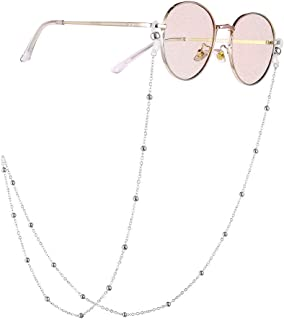 OUYAWEI Eyeglasses Woman Fashion Round Beaded Anti-Slip Eyeglasses Chain