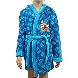 TVM Europe - Albornoz para niños, bombero Sam, Frozen, Patrulla Canina de Paw Patrol, de suave forro polar con capucha, azul, 134-140 cm